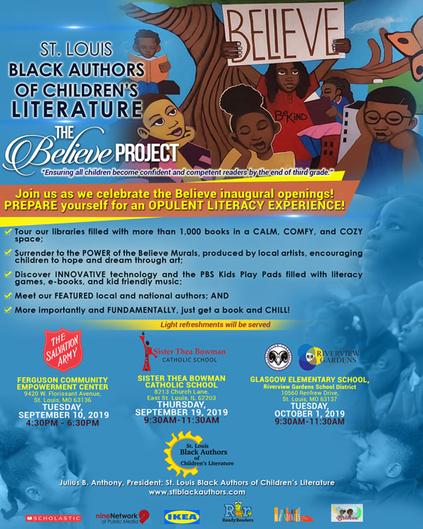 "St. Louis Black Authors of Children's Literature ""The Believe Project"" Event @ STBCS"